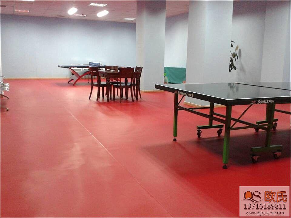 体育馆乒乓球地板施工铺装南京财经大学
