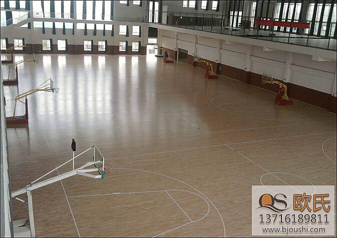 篮球木地板之面板安装流程